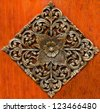 Old carving wood ornament of flower pattern thai style - stock photo