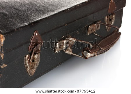 old case for musical instrument closeup - stock photo