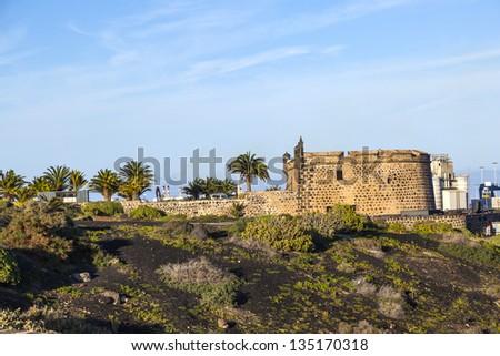 old Castillo de San Jose in Arrecife - stock photo