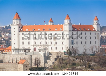 Old Castle in Bratislava on a Sunny Day - stock photo