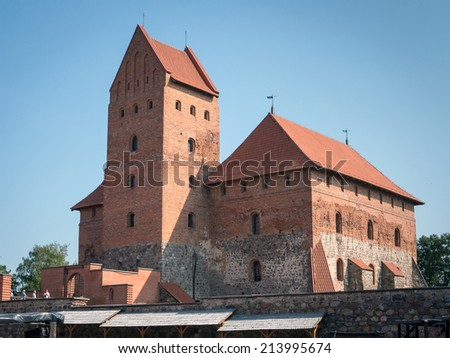 Old castle in Trakai, Lithuania