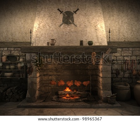 Medieval Fireplace Stock Images, Royalty-Free Images & Vectors ...