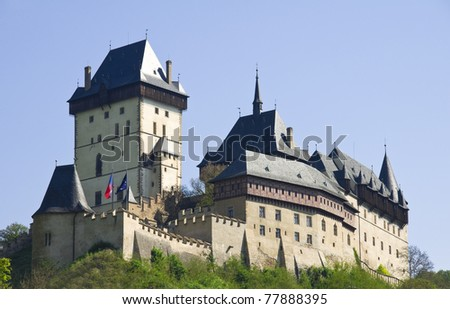 Old Castle of Karlstein in Czech Republic - stock photo