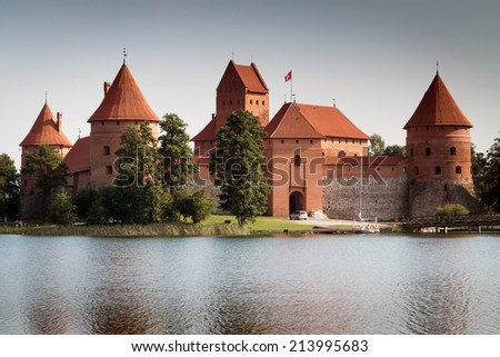 Old castle on the island, Trakai, Lithuania
