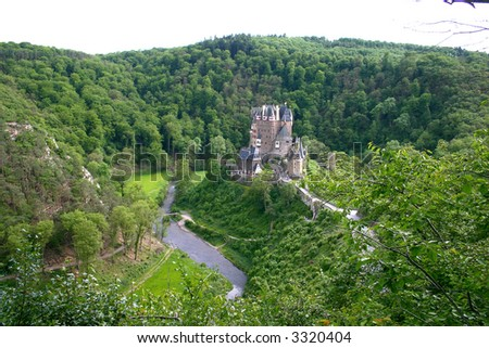 Old Castle. Rhine River Valley, Germany - stock photo