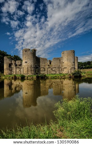 old castle ruin on a summer day