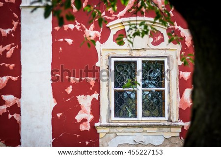 Old castle window, Steknik, Czech Republic