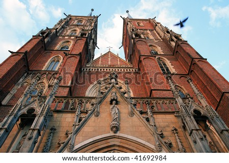 Old cathedral in Wroclaw