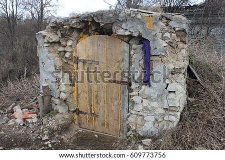 old cellar. abandoned village & Old Cellar Abandoned Village Stock Photo 609773756 - Shutterstock