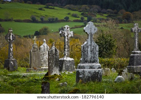 Old celtic cemetery. - stock photo