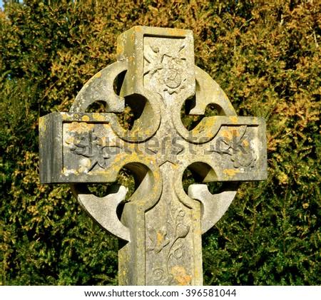 Old Celtic Cross - stock photo