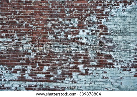 Old cement and brick wall texture - stock photo