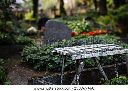 Old cemetery. Selective focus. - stock photo