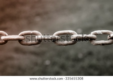 Old Chains made with vintage tone - stock photo