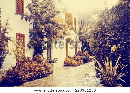 old charming streets - stock photo