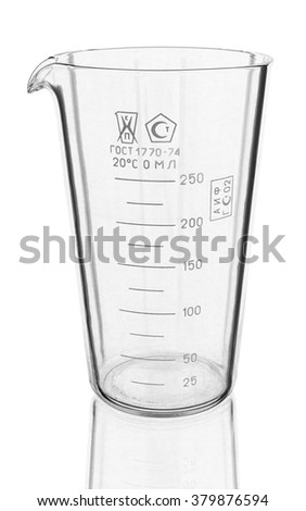 old chemical test tube on a white background