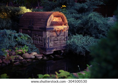 old chest - stock photo