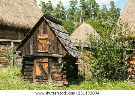 Old hen house stock photos images pictures shutterstock for Old farm chicken coops