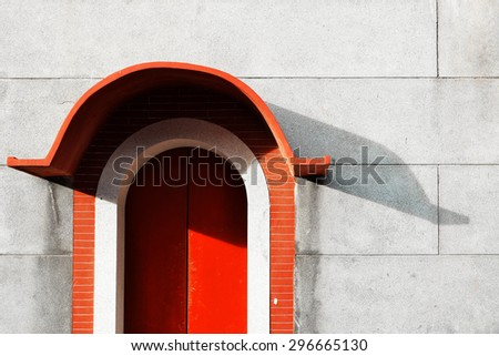 Old chinese door. Vintage effect. - stock photo