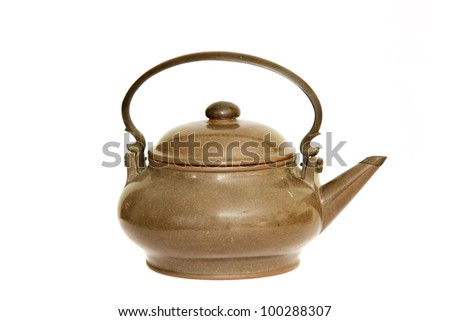 Old Chinese teapot  isolated