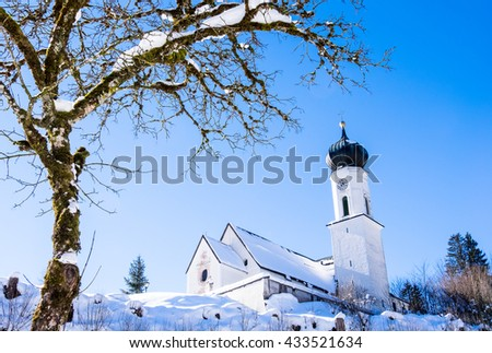 old church at the jachenau - bavaria