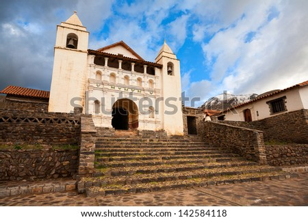 Old church, in Arequipa, Peru - stock photo