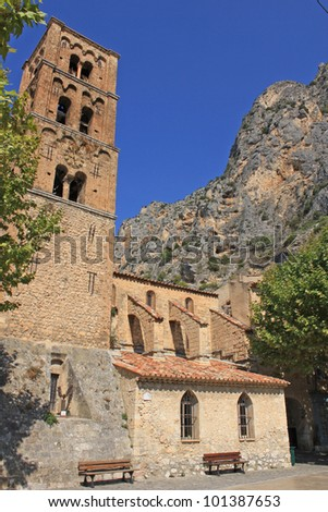 old church in Moustiers Ste Marie, Verdon, France