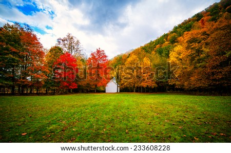 Old Church In The Cataloochee Valley Of North Carolina