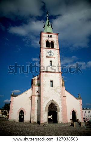 Old Church in the city Kasperske hory, Czech Republic, European Union