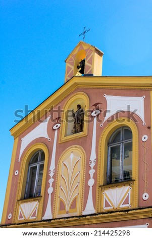 Old church in Villefranche, France - stock photo