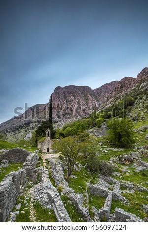 Old Church, Kotor Montenegro - stock photo