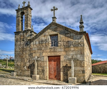 Old church of Sanfins de Ferreira in Pacos de Ferreira, north of Portugal