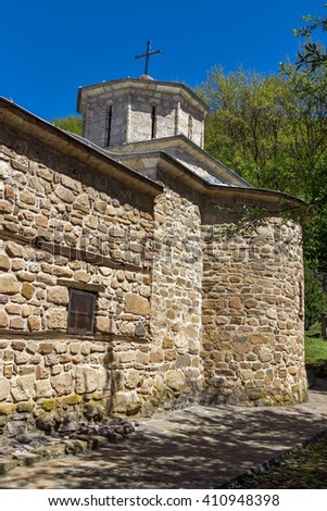 Old Church of Temski monastery St. George, Pirot Region, Republic of Serbia - stock photo