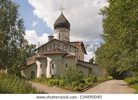 Old church of the Christ Ascension of the former Old Monastery of the Ascension in Pskov