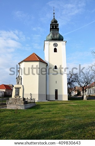 old church, the village of Havraniky, Czech Republic