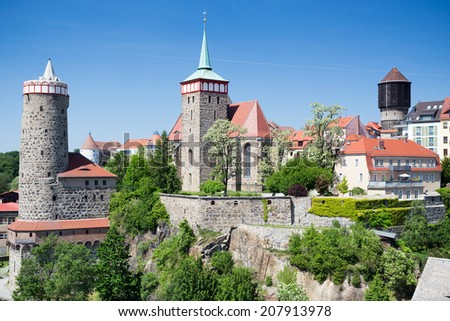 Old City and castle in Bautzen, Germany - stock photo