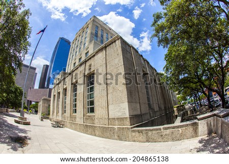 old city hall of Houston in daytime - stock photo
