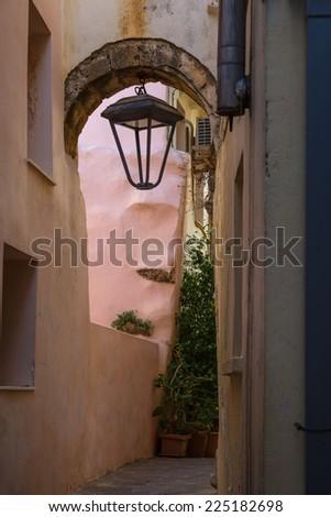 Old city of Chania, Crete, Greece - stock photo