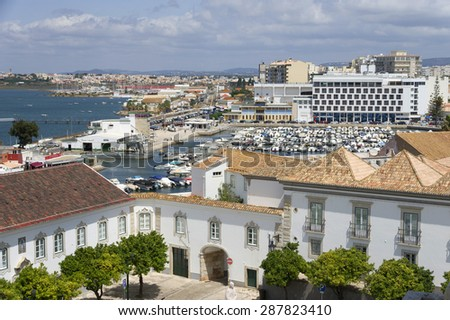 Old City of Faro, Algarve, Portugal Europe - stock photo