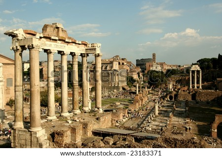 Old city of Rome, Italy - stock photo