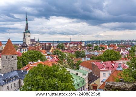 Old city of Tallinn - stock photo