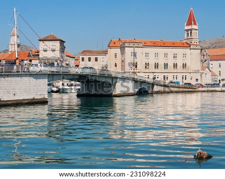 Old city of Trogir in Dalmatia, Croatia. - stock photo