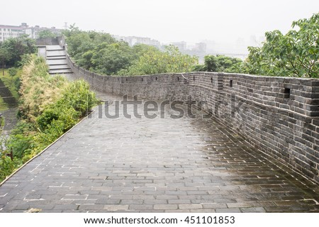 old city wall of Ganzhou