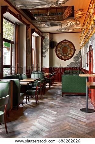 Old Classic Vintage Bar Pub Interior With Stock Photo 100 Legal