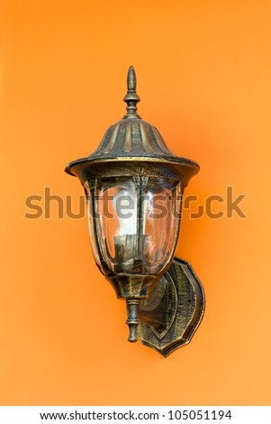 Old classical wall lamp