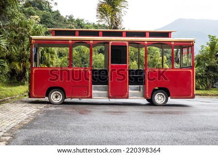 Old classicr bus  - stock photo