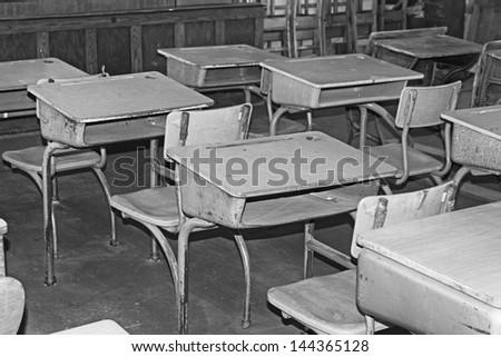 Old classroom - stock photo