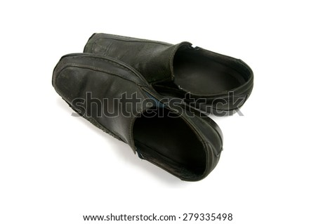 Old Classy male business shoes - stock photo