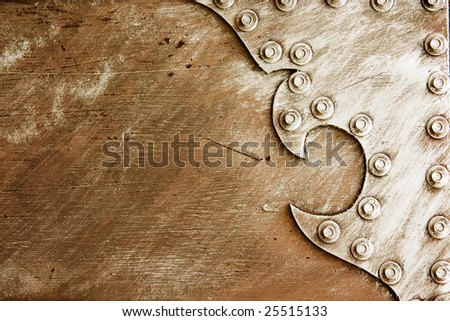 Old clean nameplate - stock photo