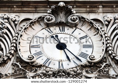 Old clock - stock photo
